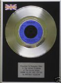 "WHITNEY HOUSTON - 7"" Platinum Disc - SAVING ALL MY LOVE FOR"